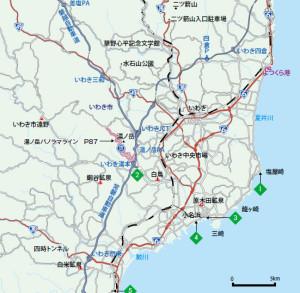 二ツ箭山地図