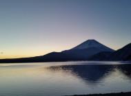 冬の富士を眺めながら