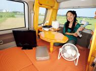 軽キャンパーでキャンプ旅 その4:電化製品が使えて快適車中泊