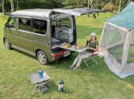 軽キャンパーでキャンプ旅 その2:キャンプ場で簡単設営